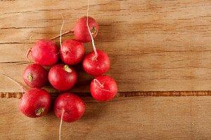 Ripe fresh radish