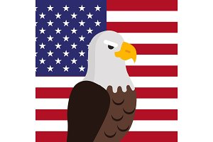 Bald Eagle Flat Design Vector Illustration