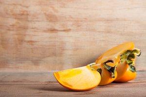 Ripe fresh persimmon