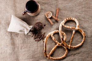 Fresh pretzel