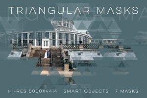 7 Triangular Photoshop Masks + Demo