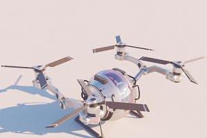 Sci Fi QuadCopter 3d model vray