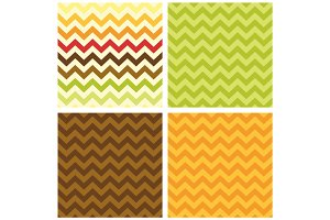 Primitive retro seamless chevron pattern in autumn colors