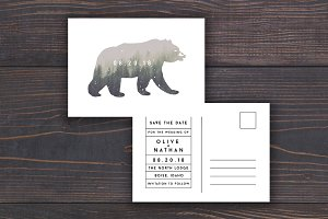 Bear Wedding Save The Date Template