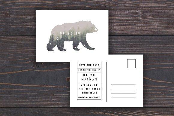 Bear Wedding Save The Date Template