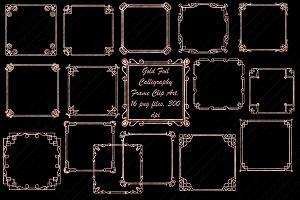 RoseGold Foil Art Deco/Nouveau Frame