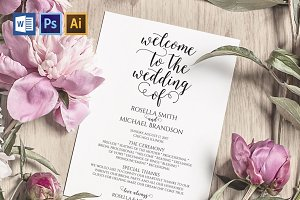 Wedding Program WPC193