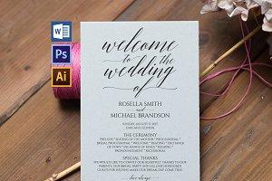 Wedding Program WPC194
