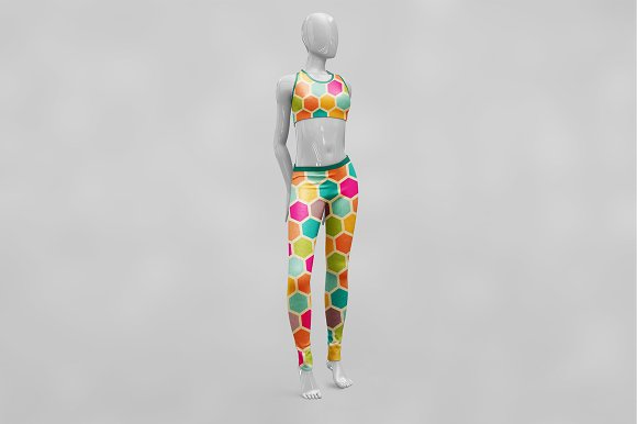 Female Sport Outfit MockUp