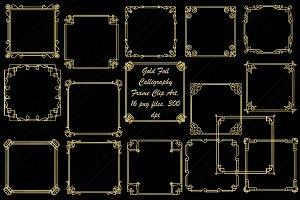 Gold Foil Art Nouveau/Deco Frames