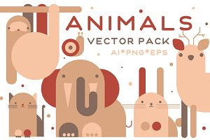 Funny animals. Vector pack