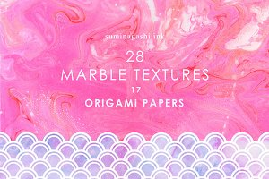 Suminagashi. Marble textures.