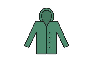 Raincoat color icon