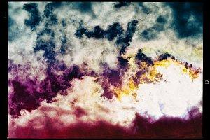 Horizontal vintage vivid vibrant cloudscape film scan design com