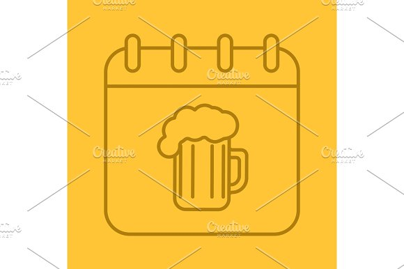 Oktoberfest date linear icon in Icons