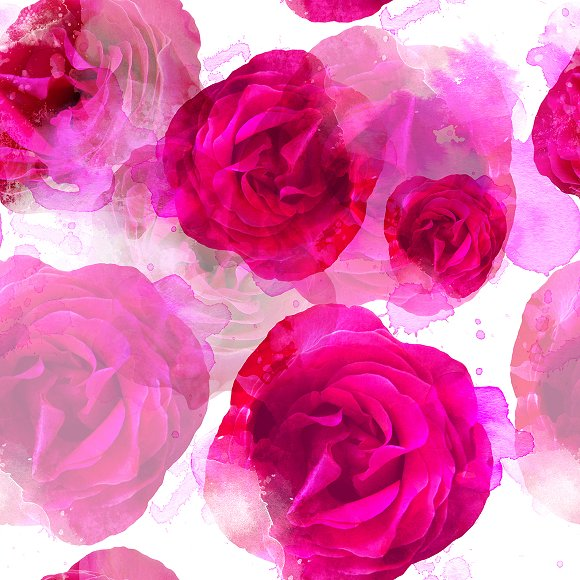 Roses Seamless Pattern JPEG