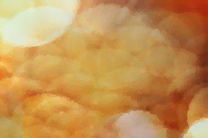 Horizontal vivid wide red orange huge crystallized bokeh backgro