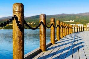 Horizontal Norway pier perspective background