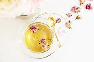 A cup of healthy herbal tea