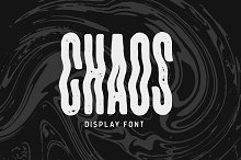 CHAOS Display Font