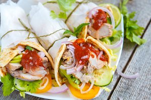 fajitas with pork