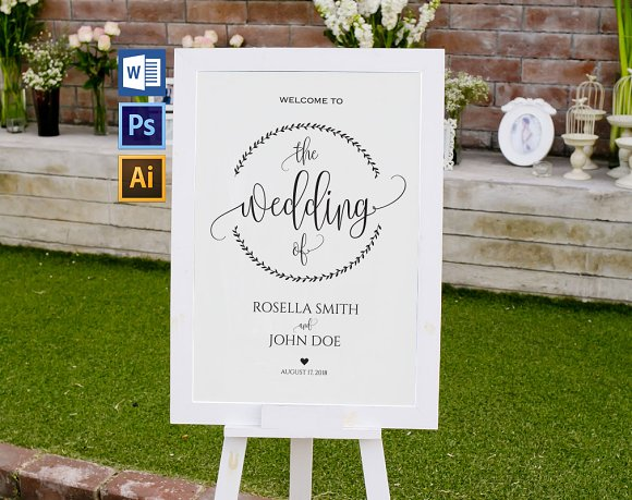 Wedding Welcome Sign WPC200