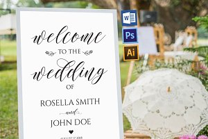 wedding welcome sign WPC201