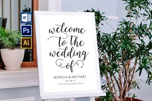wedding welcome sign WPC202