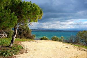 The Beach overlooking Tarifa Spain