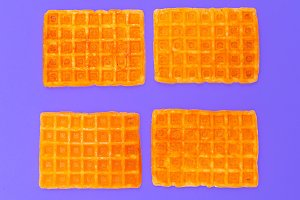 Sweet waffles. Minimal design