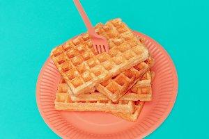 Sweet waffles. Minimal design art