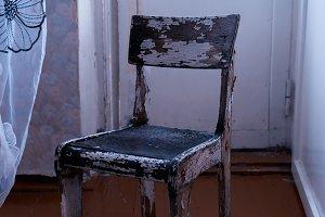 Vertical vintage Ussr old antique chair object background backdr
