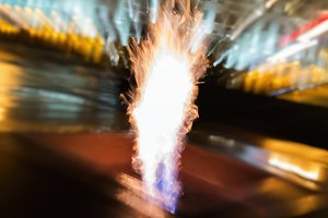 Fire zoom in abstraction