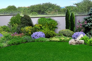 Private yard landscaping