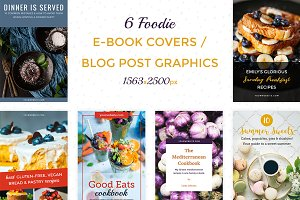 6 E-book / Post Covers for Foodies