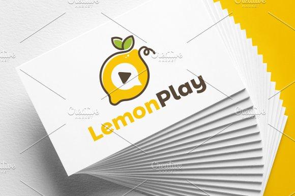 Lemon Play Logo Template