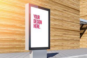 Lightbox billboard PSD Mockup