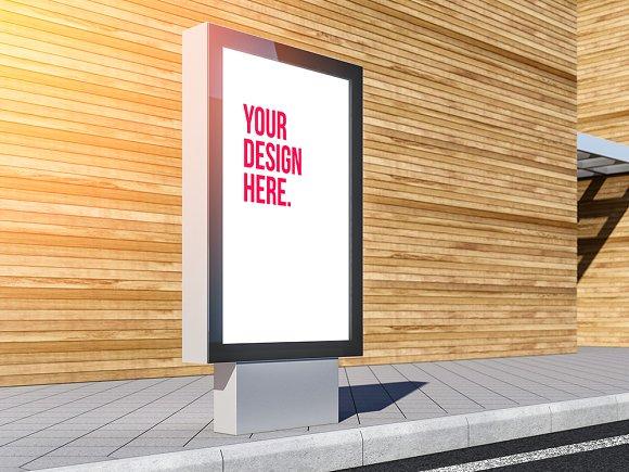 Lightbox Billboard PSD Mockup