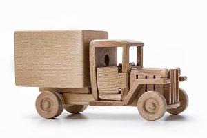 An old model of a van car.