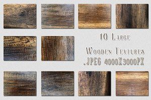 10 Large Wooden Textures