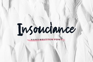 NEW! Insouciance Brush Script