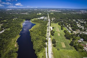 Aerial view of Park in Orlando