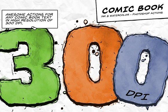 Comic Book Ink Actions 300 DPI
