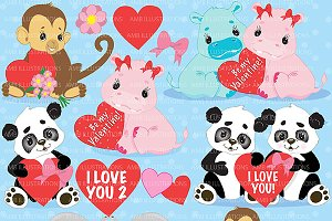Jungle Valentines Clipart AMB-596