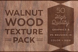 50 Walnut Wood Textures & Brushes