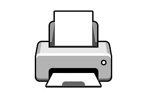 Fax, web icon