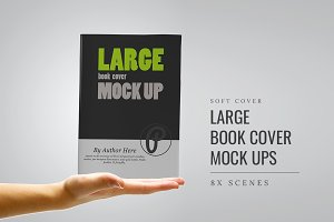Large Book Cover Mockups