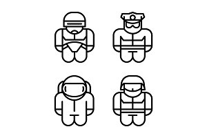 Set of toy icons