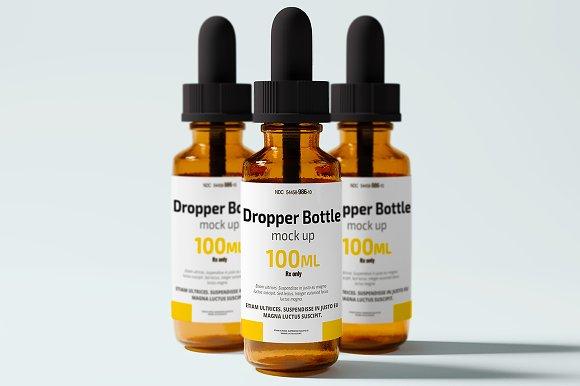 Dropper Bottle Mock up - Product Mockups