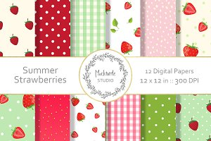 Strawberry digital paper